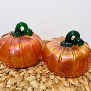 🎃 Blown glass pumpkin, handmade very rare.  Possi